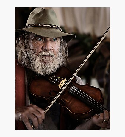 Saloon Fiddler Photographic Print
