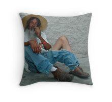 Homeless. A study. Throw Pillow