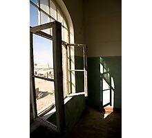Open Windows in Derelict Building Photographic Print