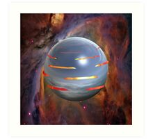 Planet Tigris (Tiger Planet)  Art Print