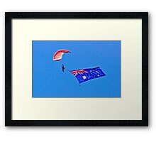 Flag Under Canopy - SYDNEY - AUSTRALIA Framed Print
