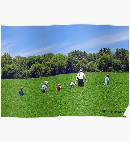 An Amish Family - Lancaster, PA Poster
