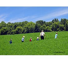 An Amish Family - Lancaster, PA Photographic Print