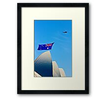 Australia Day Sails - Sydney Opera House Framed Print