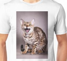 Bengal cat meows Unisex T-Shirt