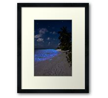 Fluorescent plankton in the Maldives - Indian Ocean Framed Print