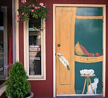 painted door by Lynne Prestebak