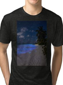 Fluorescent plankton in the Maldives - Indian Ocean Tri-blend T-Shirt