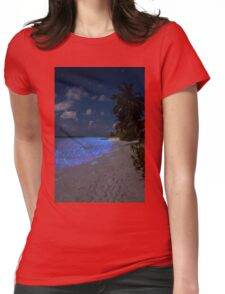Fluorescent plankton in the Maldives - Indian Ocean Womens Fitted T-Shirt