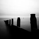 Groyne and Distant Marker by PaulBradley
