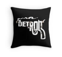 Detroit Gun Throw Pillow