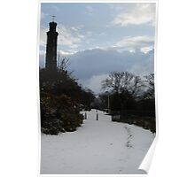Nelson Monument in the snow Poster