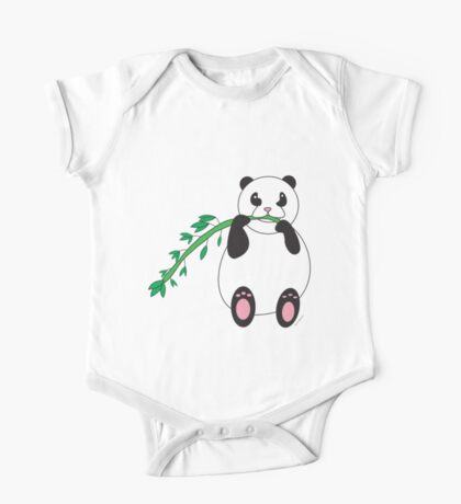Panda Bear Eating Bamboo  Kids Clothes
