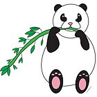Panda Eating Bamboo by ValeriesGallery