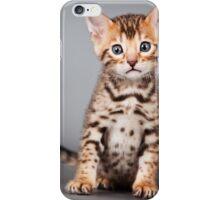 Bengal kitten iPhone Case/Skin