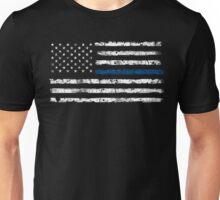 Blue Line (White) V2 Unisex T-Shirt
