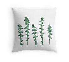 Dandelion leaves Throw Pillow