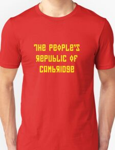 The People's Republic of Cambridge (yellow letters) T-Shirt