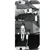 Little sad boy on the roof iPhone Case/Skin