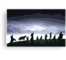 Fellowship of the Ring Cutout Print Design Canvas Print
