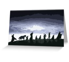 Fellowship of the Ring Cutout Print Design Greeting Card