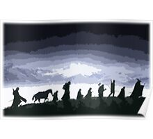 Fellowship of the Ring Cutout Print Design Poster