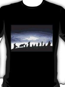 Fellowship of the Ring Cutout Print Design T-Shirt