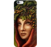 Keeper of the wood - nature goddess iPhone Case/Skin