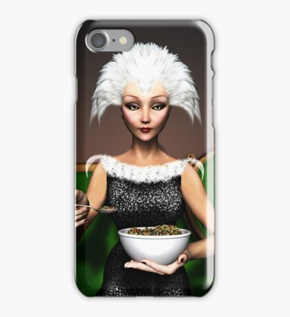 Strictly vegetarian - the bird woman iPhone Case/Skin