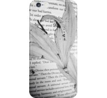 Dead flowers pressed into book  iPhone Case/Skin
