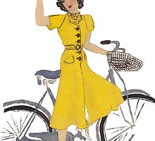 Vintage Fashion and bike by artbyjehf