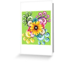 Sunny colorful sunflower  Greeting Card