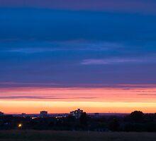 Sunset Over Harlow by Nigel Bangert