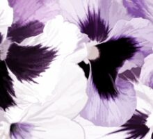 Purple Pansies'... Sticker