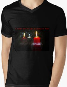 A Candle Loses No Light By Sharing Its Flame III Mens V-Neck T-Shirt