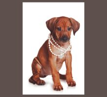 Red ridgeback puppy and beads One Piece - Short Sleeve