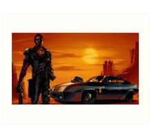 Mad Max and the V8 Interceptor Art Print