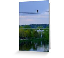 ...living in a big world... Greeting Card