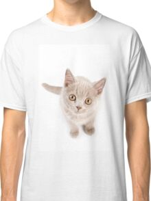 Funny cat with yellow eyes Classic T-Shirt