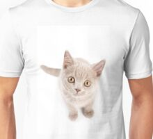 Funny cat with yellow eyes Unisex T-Shirt