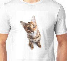 Bengal cat with big eyes Unisex T-Shirt