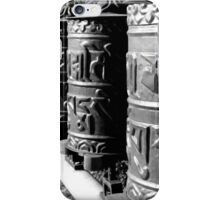 Prayer Wheels at Earth Sanctuary Whidbey Island iPhone Case/Skin