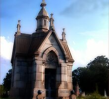 Oakdale Cemetary Mausoleum in Atlanta, GA,  by Rhonda Strickland