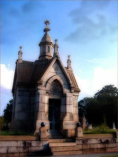 Oakdale Cemetary Mausoleum in Atlanta, GA,  by Rhonda Strickland