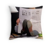 At Ease! Throw Pillow