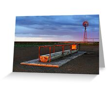 Cattle Trough - Hay Plains Greeting Card