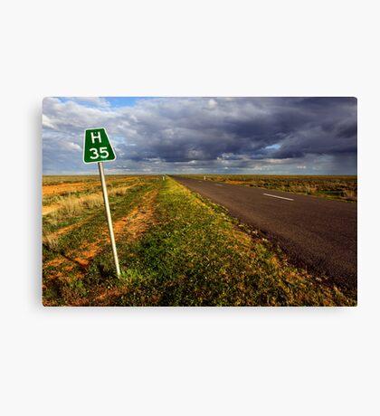 The Long Paddock - Hay Plains Canvas Print