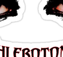Phlebotomists Vampire Shirt Sticker