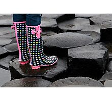 Giants Causeway Spotted Wellies Photographic Print