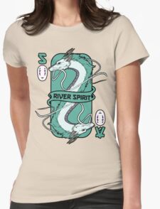 The river spirit card Womens Fitted T-Shirt